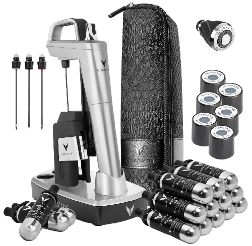 CORAVIN™ Model Six Ultimate Wine Journey Pack-Silver