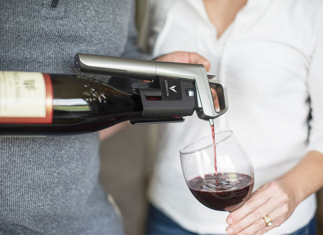 Coravin in use