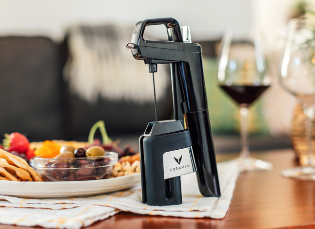 Coravin on a table